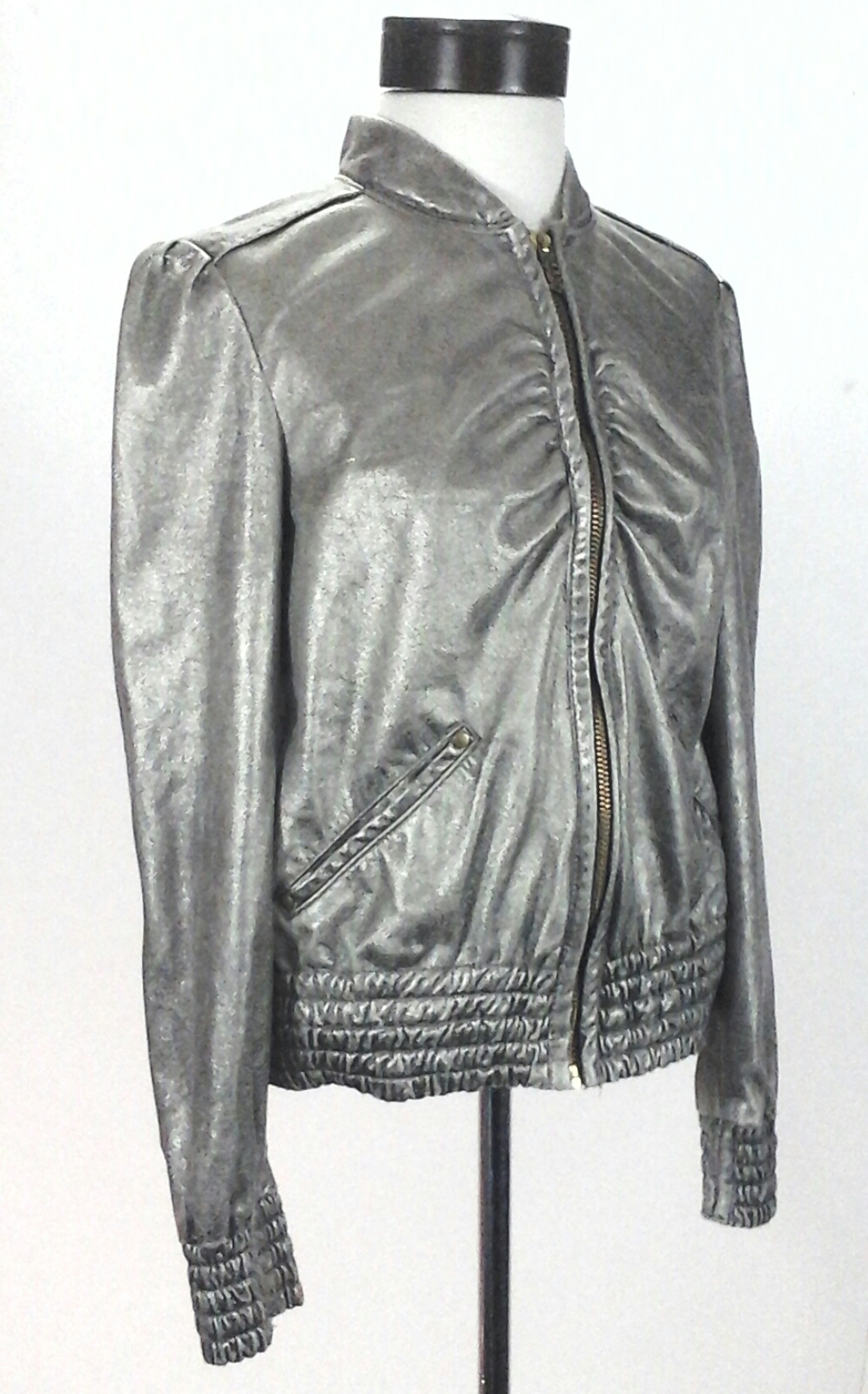 Soft Lretail429 Miss Italy Up Gold Jacket Metallic Zip Made Sixty thQCxrds