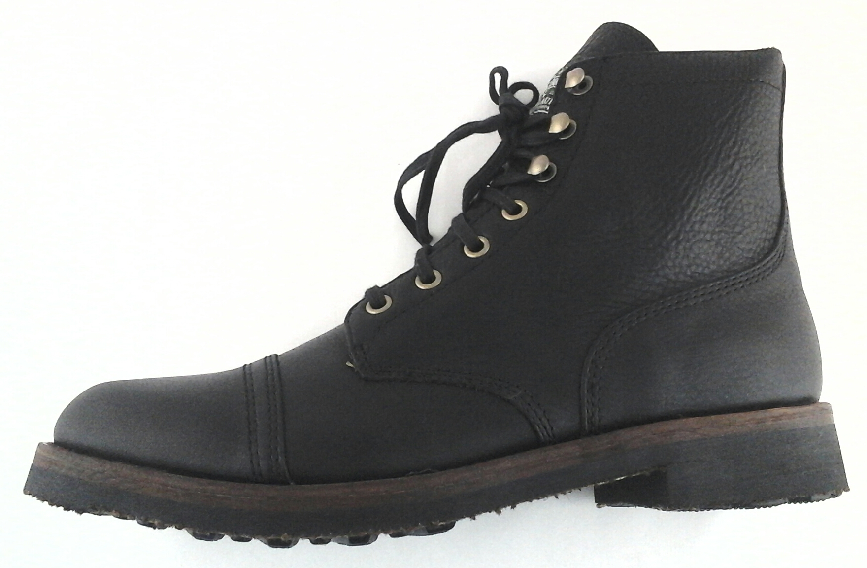 cc2206ca2342b Details about Polo Ralph Lauren Enville Cap-Toe Boot Dark Brown Leather US  10.5 US 12 New