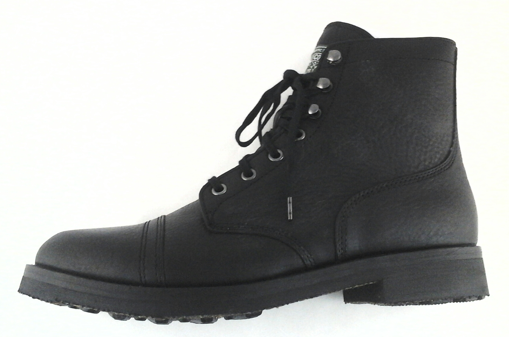 16a13ca99cce6 Details about Polo Ralph Lauren Enville Cap-Toe Lace Up Boot Black Leather  US 10.5 US 12 New